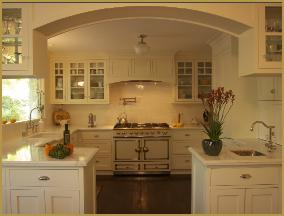 customspanishecletickitchwithlargearchwayasentry